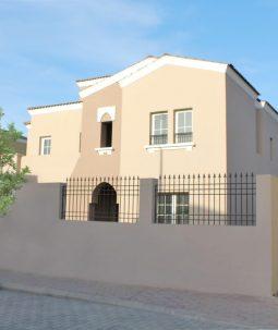 فيلا تصميم أسباني فاخرة مكونة من خمس غرف في التاله جاردنز