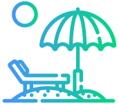 Beach Facilities Icon